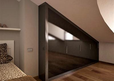 armario aguardillado oscuro granada madera brillo elegante