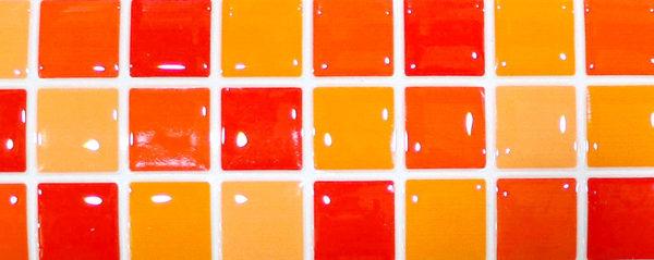 cenefas adhesivas para cocinas y baños color naranja