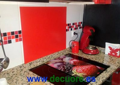 cenefas para cocina sin obra pegadas de calidad tonos rojos decuore 3 2
