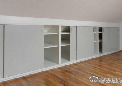 armario buhardilla puertas corrderas estantes libreria granada