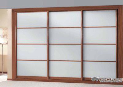 armario con 3 puertas correderas blanco y madera