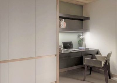armario con escritorio blanco madera decuore