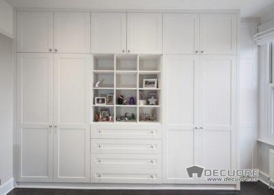 armario lacado blanco con cajones en medio decuore granada 2