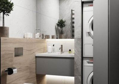 armario para tapar lavadora en el baño a medida