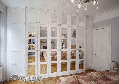 armario puertas normales blancas espejo a medida granada 2