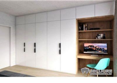 armario y escritorio lacado blanco a medida granada