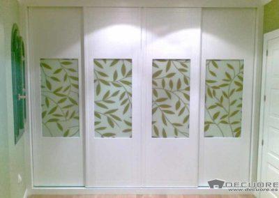 armarios 4 puertas correderas en granada blanco