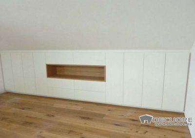 armarios abuhardillados blanco madera granada 3