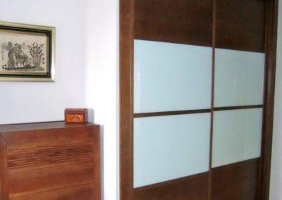 armarios para dormitorio matrimonio madera y cristal correderas