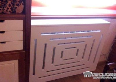 cubreradiador diseño moderno a medida clasico lacado blanco decuore