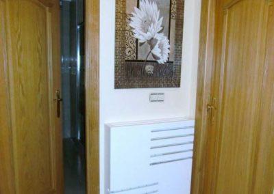cubreradiador elegante blanco diseño