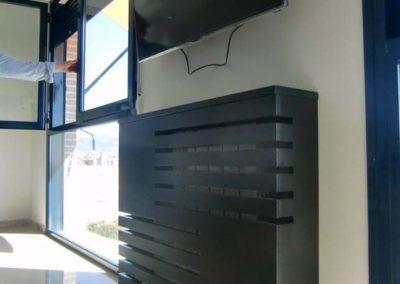 cubreradiador madera moderno salon television decuore