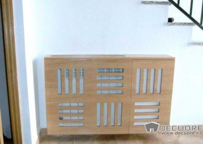 cubreradiador madera natural zapatero granada