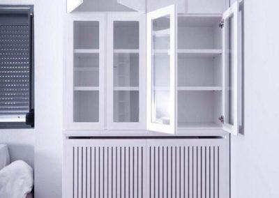 cubreradiador mueble puertas diseño