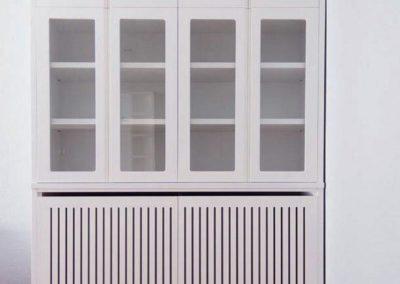 cubreradiador vitrina diseño lacado