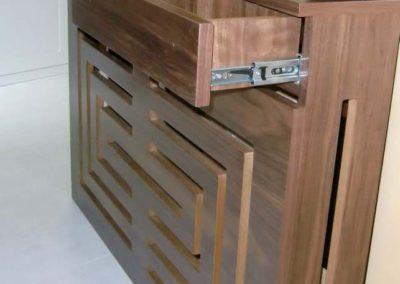 cubreradiadorcon cajones diseño moderno madera decuore