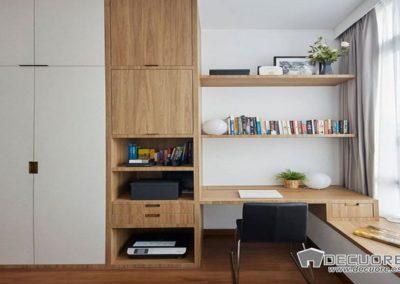 dormitorio a medida con escritorio y armario granada