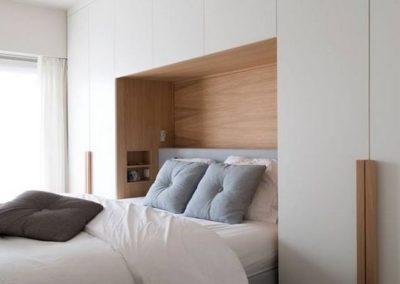dormitorio cabacero armarios blanco madera tipo puente decuore granada