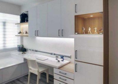 dormitorio juvenil en granada a medida moderno blanco decuore
