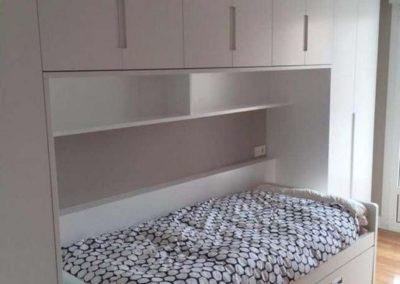dormitorio juvenil lacado blanco cama nido armarios granada 1