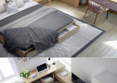 dormitorio matrimonio moderno en granada a medida decuore