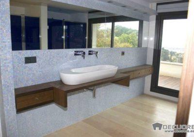 encimeras de madera para baños decuore
