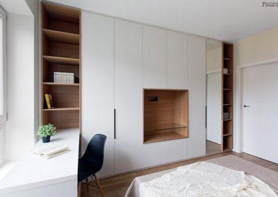 habitacion armario y estantes libreria decuore