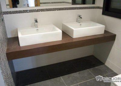 mobiliario para 2 lavabos en granada madera