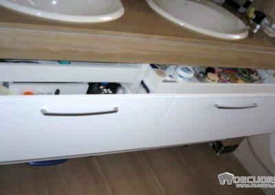 muebles de baño a medida blanco con cajon interior decuore