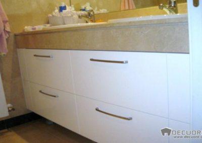 muebles de baño a medida blanco con cajones decuore 1