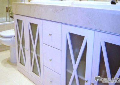 muebles de baño a medida blanco granada