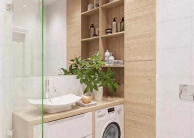 muebles de baño con lavadora a medida granada decuore