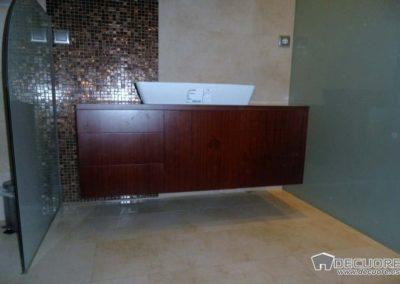 muebles de baño en wengue moderno decuore 1