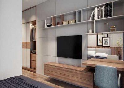 muebles dormitorio matrimonio con television a medida en granada