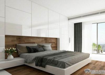 dormitorio blanco y madera granada decuore