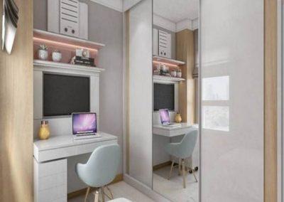 dormitorio juvenil con espejo en granada