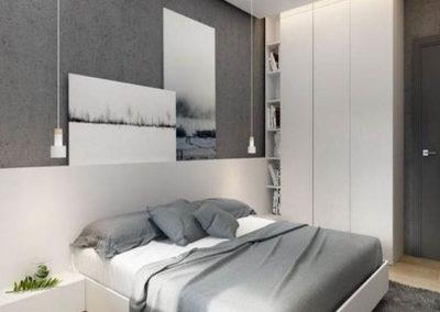 dormitorio minimalista en granada