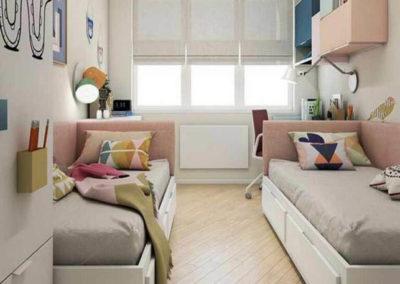 dormitorios con dos camas para niños granada