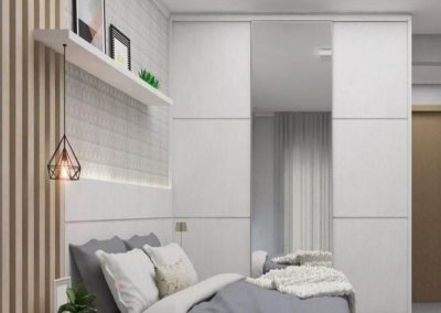 dormitorios con espejo modernos a medida