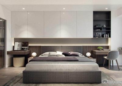 dormitorios con muebles en el cabececero granada