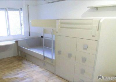 habitacion con cama literas medidas en granada