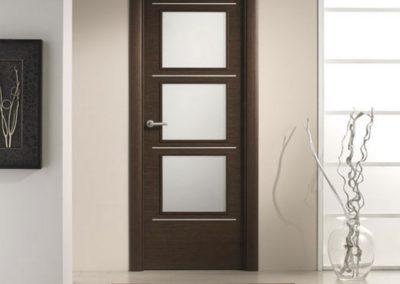 puertas de interior en granada wengue modernas