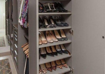 vestidores con zapatos mujer