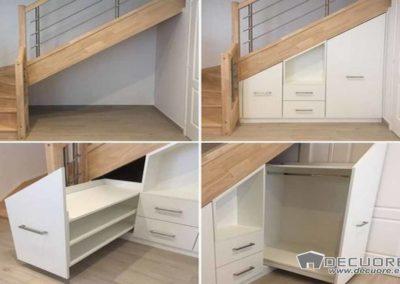 armarios empotrados bajo las escaleras